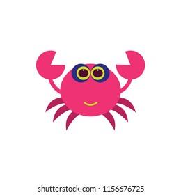 crab cartoon vector icon