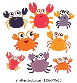 crab character vector design