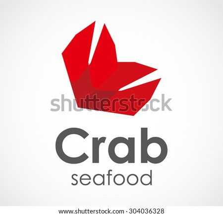 Crab Claw Seafood Restaurant Abstract Vector Stock Vector Royalty