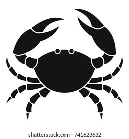 Crab icon. Simple illustration of crab vector icon for web