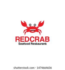 Crab Logo Design Vector for Food, Restaurant Mascot Logo and Icon