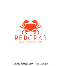 Crab. Logo. Prepared crab on white background