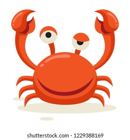 A crab looks arrogant after winning the fight