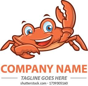 Crab mascot for seafood resto logo