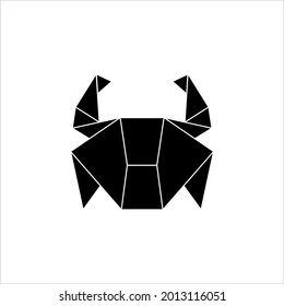 Crab Polygonal Illustration for Logo or Graphic Design Element. Vector Illustration