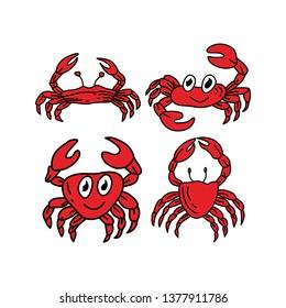 Crab Sea Design Graphic Template Vector
