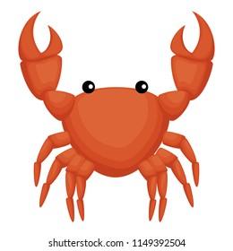 crab sea isolated icon