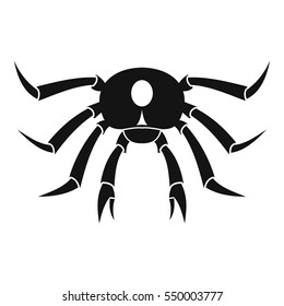 Crab seafood icon. Simple illustration of crab seafood vector icon for web