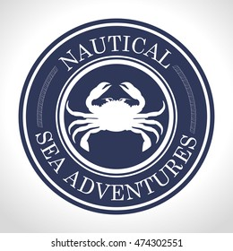 crab seal ocean traveler icon vector illustration graphic
