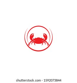 Crab vector. Logo. Isolated crab on white background