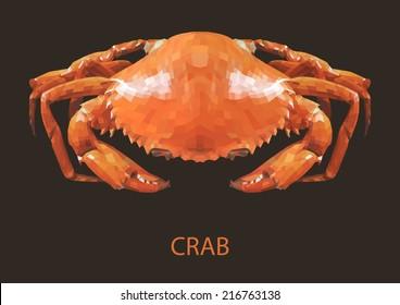 Crab Vector polygon geometric