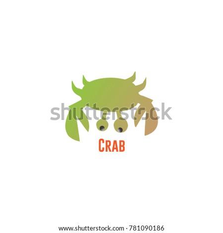 Crab Vector Template Design Stock Vector Royalty Free 781090186