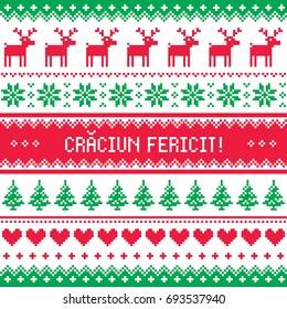 Merry christmas thai seamless pattern stock vector royalty free craciun fericit greeting card merry christmas in romanian pattern m4hsunfo
