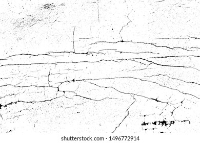 crack ground for abstract background on white background