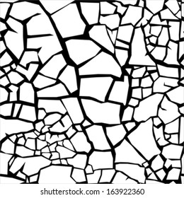 Cracked clay ground - seamless pattern