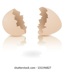 Cracked Egg. EPS 8 vector, grouped for easy editing. No open shapes or paths.