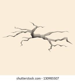Cracked ground. Vector illustration