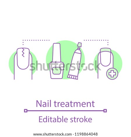 Cracked Nail Treatment Concept Icon Manicure Stock Vector (Royalty ...
