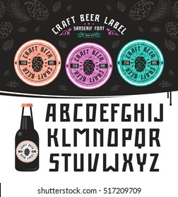 Craft beer label and sanserif font. For your design