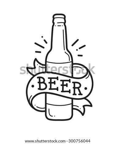 Craft Beer Logo Vector Illustration Stock Vector Royalty Free