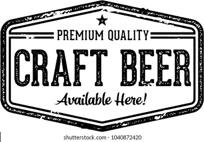 Craft Beer Vintage Style Bar Sign