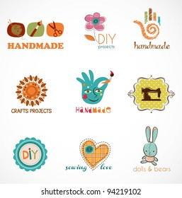 Craft and do it yourself, collection of icons