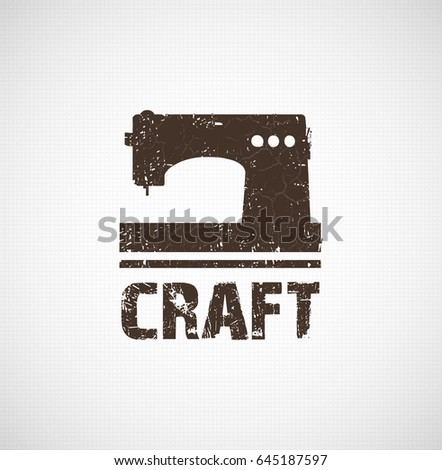 Craft Logo Business Idea Tool Design Stock Vector Royalty Free