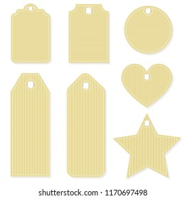 Craft paper gift tag. Mockup set for Christmas