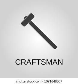 Craftsman icon. Craftsman symbol. Flat design. Stock - Vector illustration