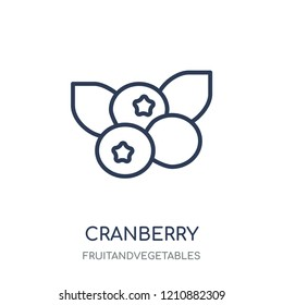 Cranberry icon. Cranberry linear symbol design from Fruitandvegetables collection. Simple outline element vector illustration on white background.