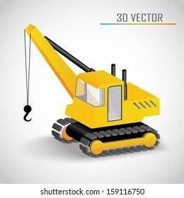 crane 3d vector