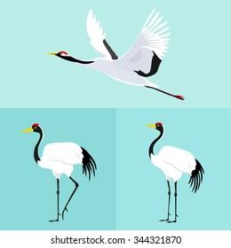Crane Bird Logo Images, Stock Photos & Vectors | Shutterstock
