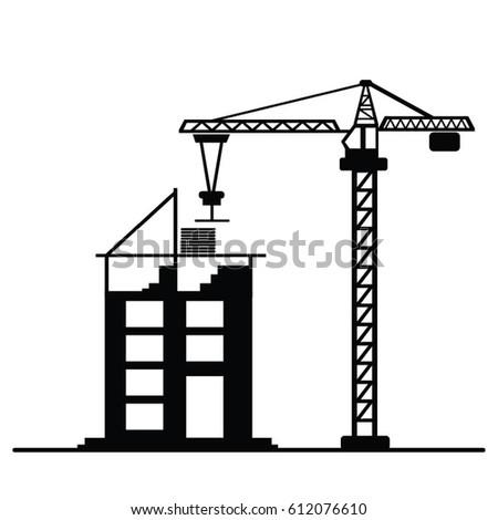 crane construction icon vector stock vector (royalty free) 612076610 Mobile Crane Diagram crane construction icon vector