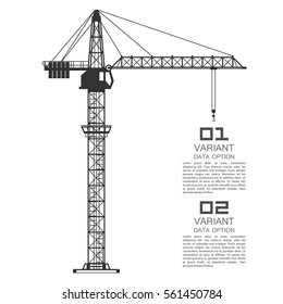Crane drawing business cover. Vector illustration