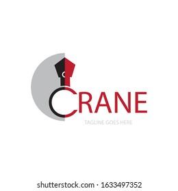crane icon logo vector design