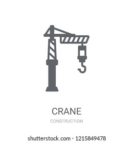 Crane icon. Trendy Crane logo concept on white background from Construction collection. Suitable for use on web apps, mobile apps and print media.