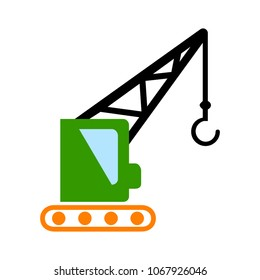 crane icon - vector construction crane, building construction symbol