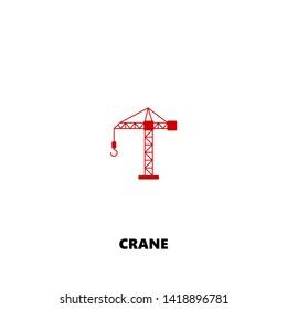 crane icon. crane vector design. sign design. red color