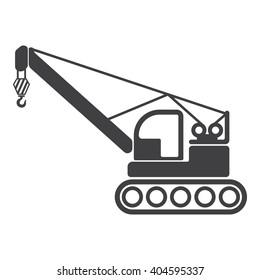 Crane icon Vector Illustration on the white background.