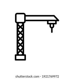 crane line icon design vector template