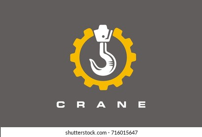 Crane sign. Build logo design. Construction logo. Vector sign or symbol for construction industry.