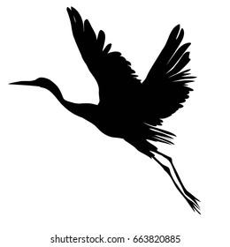 crane silhouette - vector illustration