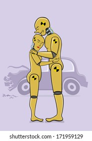 Crash test dummies in love