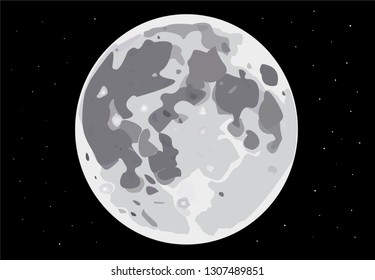 craters full moon