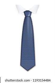 Cravate schlichte Krawatte einzeln Symbol. Realistische Illustration handlicher, einfarbiger Vektorillustration für Webdesign auf weißem Hintergrund