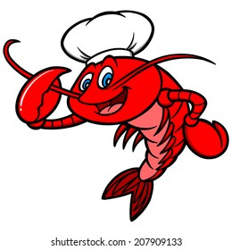 Crawfish Chef Mascot