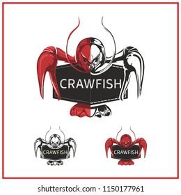 Crawfish illustration or logo