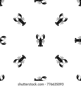 Crawfish pattern repeat seamless in black color for any design. Vector geometric illustration