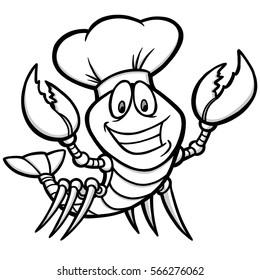 Crawfish Supper Illustration