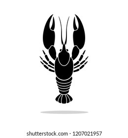 Crayfish shrimp icon. Vector concept illustration for design.